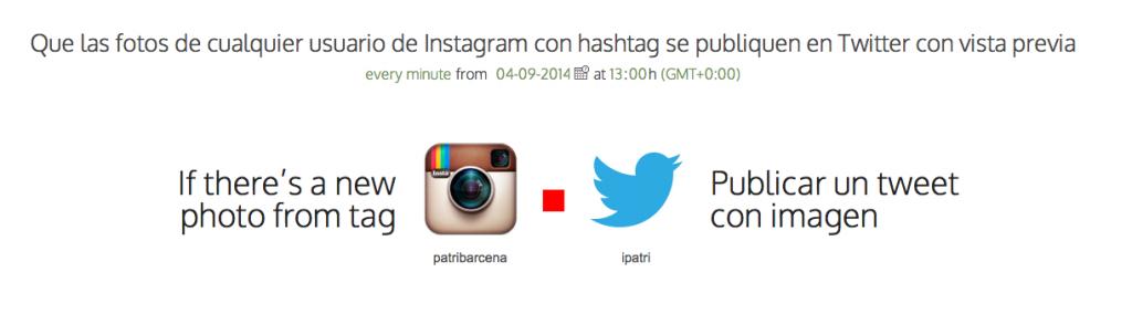 instagram con etiqueta a twitter