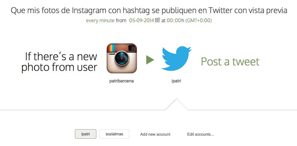 de instagram a twitter multiusuario botize