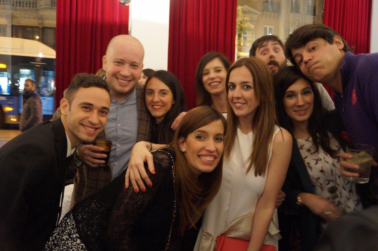 Con el equipo de Iberostar y amigos madrileños